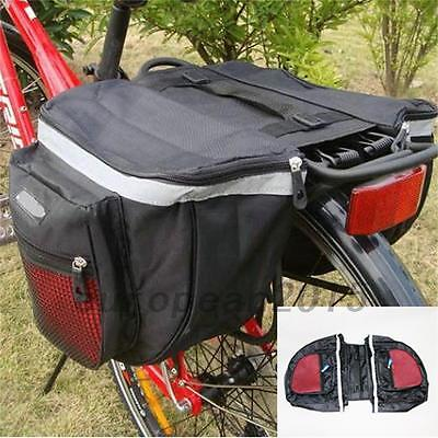 Outdoor Bike Bicycle Cycling Rear Seat Double Panniers Bag Trunk Rack Pack New