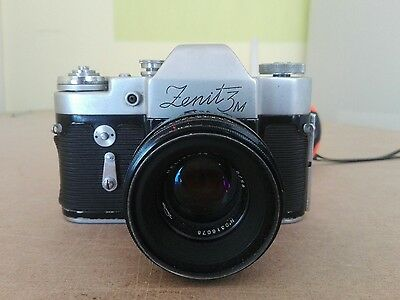 ZENIT-3M SLR Camera With Helios-44 58mm f/2.0 Lens -
