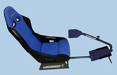 PlaySeat Racing Simulation Cockpit Edición PS2 - (Azul-Negro)