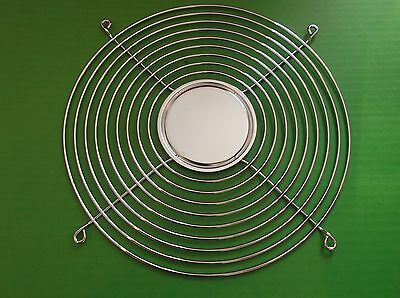 """Fan Guard 254mm 10 """" Large 9 Ring Solid Plate Chrome G254-B9 Steel Wire x1pc ONO"""
