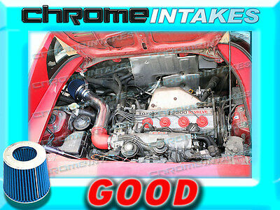Red Blue AIR INTAKE KIT for 1991 1992 1993-1995 TOYOTA MR2 MR-2 2.2L NON-TURBO