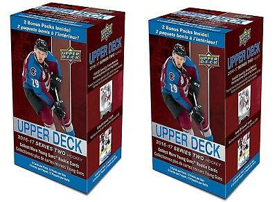 2016-17 Upper Deck Series 2 NHL hockey cards lot of 2 12-pack Blaster Boxes