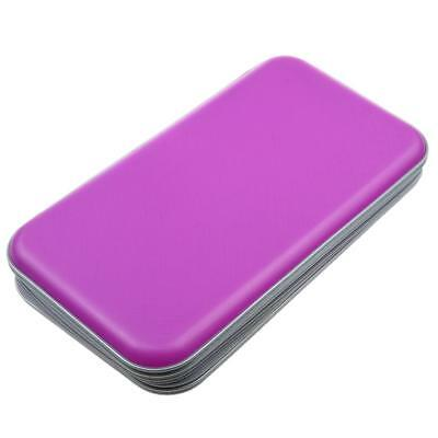 Plastic 80 CD DVD Carry Case Disc Storage Holder CD Sleeve Wallet Purple