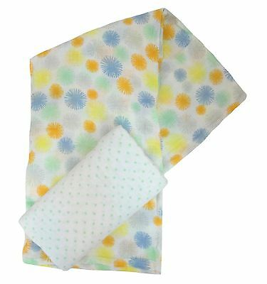 Plum 2Pk Unisex Large 110cm  Muslin Squares Swaddle Wraps cotton  - sale