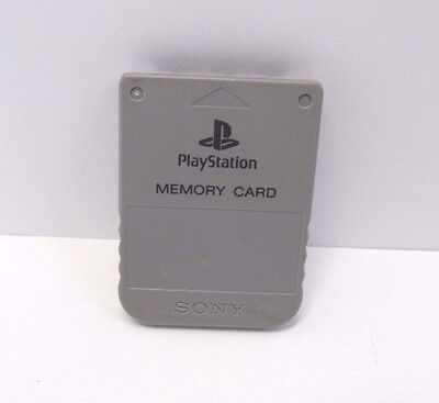 Official Sony PlayStation 1 PS1 Memory Card GRAY SCPH-1020