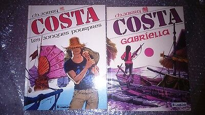 BD - Costa 1 & 2  EO 1988 &1989 + Dédicaces - Ch.Jarry - Lombard