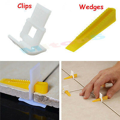 Perfect 500 Tile Leveling System - 300 Clips + 200 Wedges wall & floor spacers