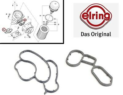 New BMW Oil Filter Housing Element SET Seal Gasket ELRING 90 E46 E60 E87 2.0i