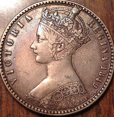 1849 Gb Uk Great Britain Silver Florin A Great Example !