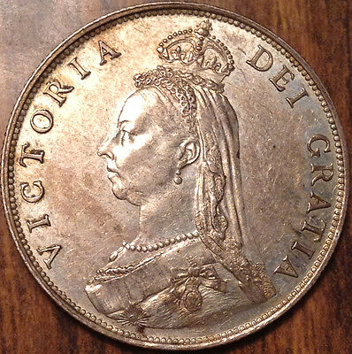 1887 Gb Uk Great Britain Silver Florin A Great Example !