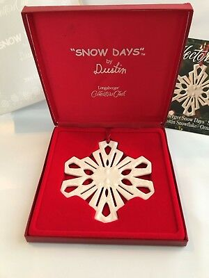 "Longaberger ~ Collectors Club ~ 2001 ""Snow Days"" Ornament ~ Mint in Box"
