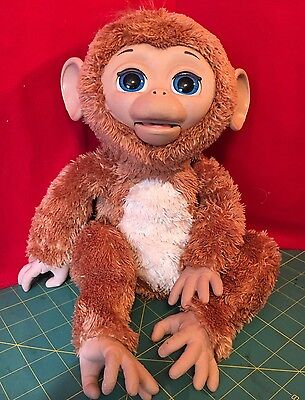 """Hasbro FurReal Friends Cuddles Giggly Monkey 16"""" Interactive Toy (WORKS)"""