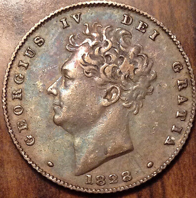 1828 Uk Gb Great Britain Silver Sixpence In High Grade !