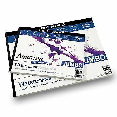 Daler Rowney - Aquafine Textured Pad - 300gsm - 50 Pages - A3/A4 Made in England