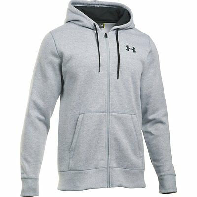 Under Armour Men's Fleece Hoodie Storm Rival Zippered Light gray