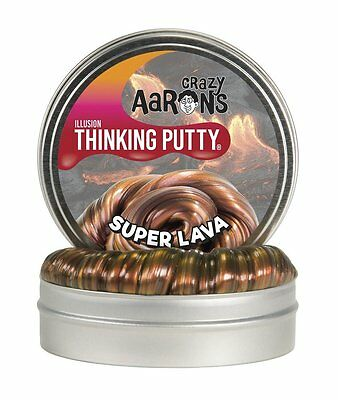 "Crazy Aaron's Thinking Putty Super Illusions - Super Lava Large 4""/10cm Tin"