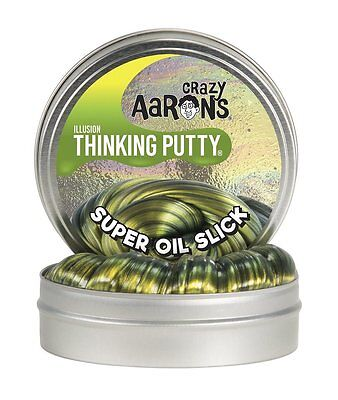 "Crazy Aaron's Thinking Putty Super Illusions - Super Oil Slick Large 4""/10cm Tin"