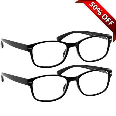 NEW Reading Glasses | 2 Pack Readers Black |180 Day Guarantee