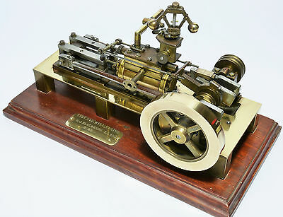 Live steam side rod mill engine - scratch-built, superbly engineered, working