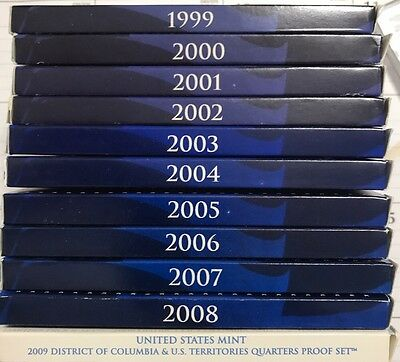 1999-2009 Clad Proof Quarter Sets In OGP!!