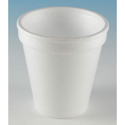 Wincup 6 oz. Disposable Cold/Hot Cup,  Foam,  White,  PK 1000 6C6W