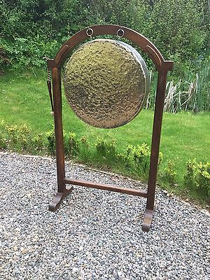 Antique Oak Bronze / Brass Country House Dinner Gong