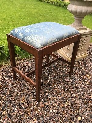 Antique Mahogany Piano Stool With Drop-In Style Seat