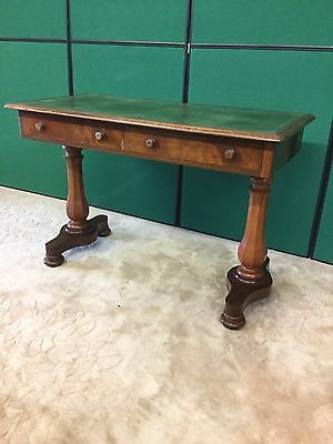 Victorian Mahogany Leather Top Desk With Drawers Under