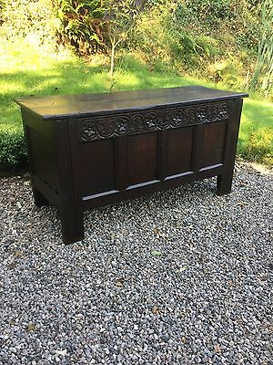 Antique Early English Oak Coffer For Restoration