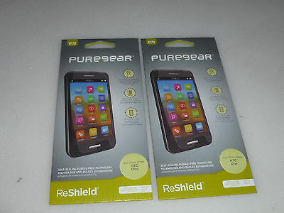 New Cell Phone Puregear Htc One Puretek Hd Reshield Screen Protector Lot X100