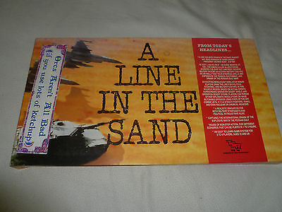 New In Box A Line In The Sand Board Game Tsr Vintage 1991 Desert Storm Gulf War