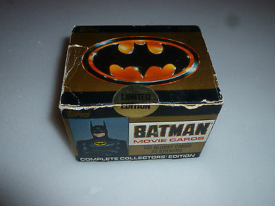 New Topps Batman Movie Cards Collectors Edition Glossy Stickers 1989 Dc Comics
