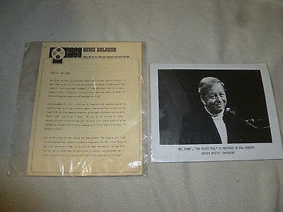 Vintage Mel Torme Press Photo & Bio Page Lot The Velvet Fog Singer Actor Author