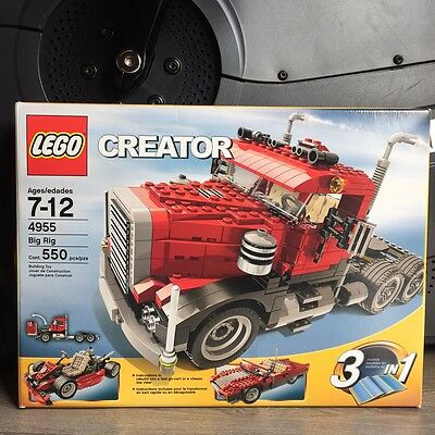 Lego Creator Big Rig 4955 100% Complete Retired from 2007 3 in 1 Set MINT