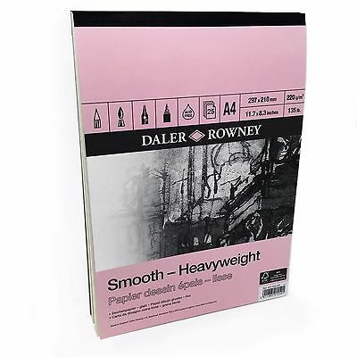Daler Rowney – Smooth Heavyweight Sketchbook – 220gsm - 25 Pages – A4 Portrait