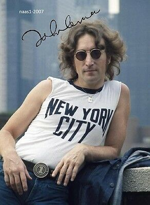 4x6 SIGNED AUTOGRAPH PHOTO PRINT OF JOHN LENNON #46
