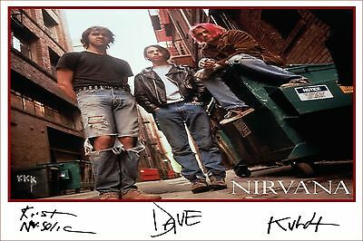 4x6 SIGNED AUTOGRAPH PHOTO PRINT OF NIRVANA #46