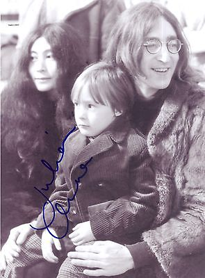 4x6 SIGNED AUTOGRAPH PHOTO PRINT OF JULIAN LENNON WITH JOHN AND YOKO #46