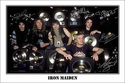 4x6 SIGNED AUTOGRAPH PHOTO PRINT OF IRON MAIDEN #46
