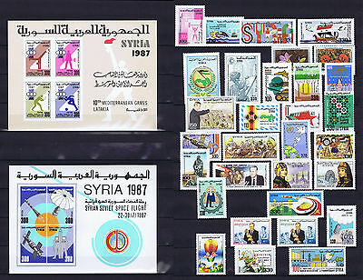 Syria, Complete Year Sets 1987, MINT NEVER HINGED.