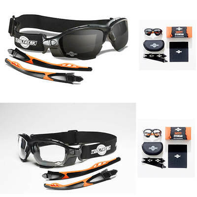 ToolFreak Eye Protection Safety Glasses & Goggles Combination - Spoggles