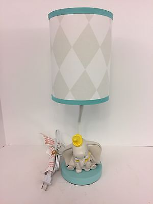 Disney Baby Dumbo Dream Big Lamp and Shade In Excellent Condition