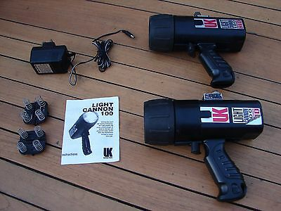 UK Underwater Kinetics Light Canon 100 Torch HID Scuba Diving x 2 Global Ship