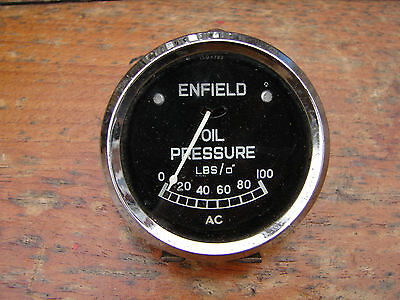 Enfield Oil Pressure Gauge World Shipping