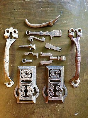 """2-7"""" Thumb Latch screen handle Pull old barn Antique rustic iron Hardware"""