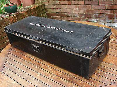 RAF Case Trunk Squadron Leader Masters Royal Air Force Large Metal Global Ship