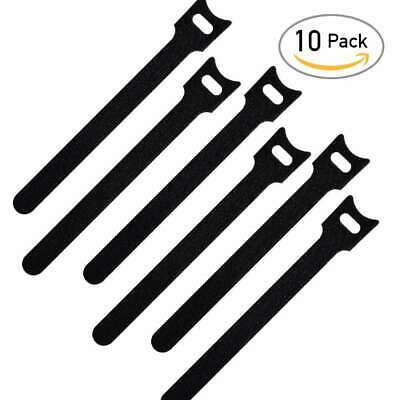 "10/20/30/50/100pcs 6"" Cable Fastener Straps Cord Ties Hook Loop Backed Hot"