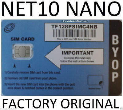 $35 Mo. Gets Unlimited At&T Wireless On This Net10 Nano Sim Card. No Contract