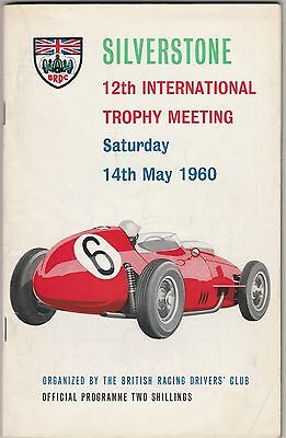 British Racing Drivers Club BRDC International Trophy Programme Silverstone 1960