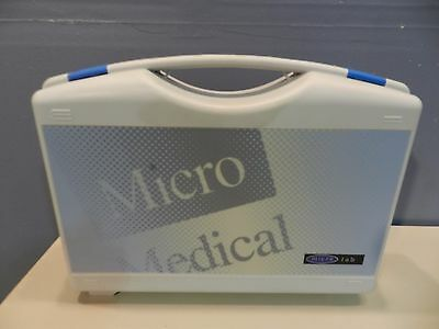 Micro Medical Micro Lab Pulmonary Tester with Power Pack and Case